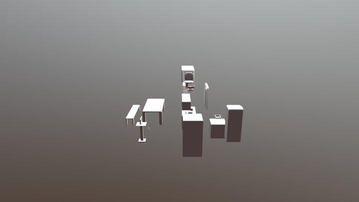 Beveled Assets 3D Model