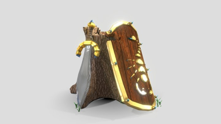 Sword and Shield 3D Model