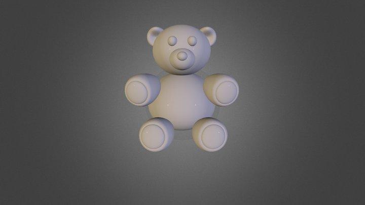 High Poly Teddy Bear 3D Model