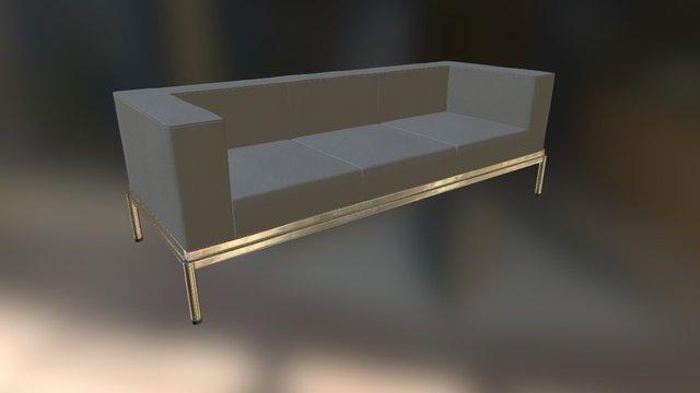 Three seat sofa 3D Model