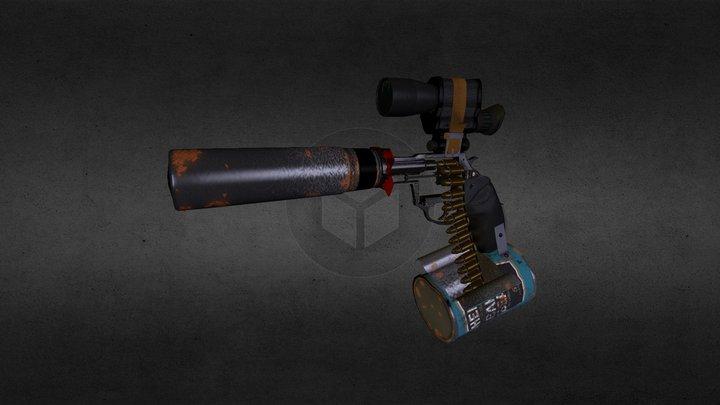 Homemade Revolver 3D Model