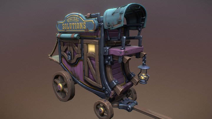 The Potionmaster's Stagecoach 3D Model