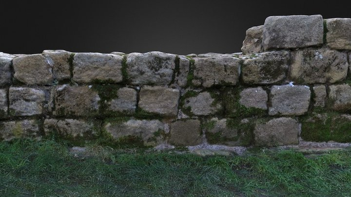 Hadrian's Wall, Heddon on the Wall, UK 3D Model