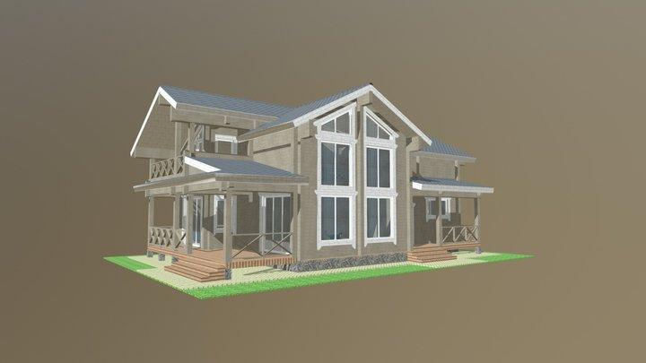 Еловая аллея 3D Model