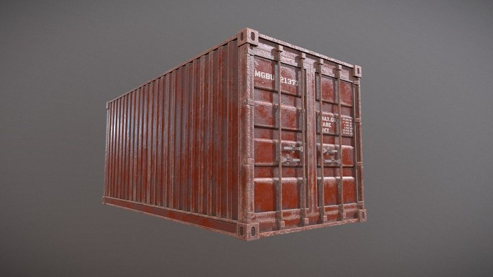 Old Container 3D Model