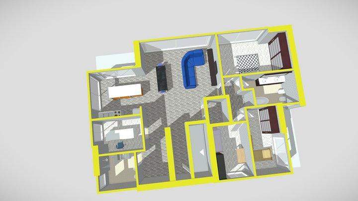 Appartamento 10 piano secondo e copertura 3D Model