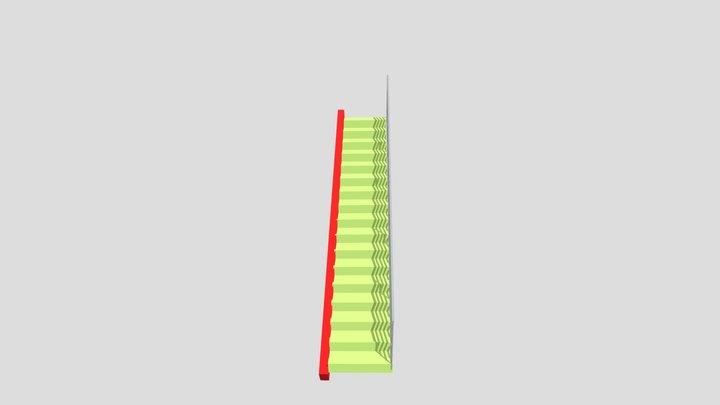 Escada em balanço em viga inclinada 3D Model