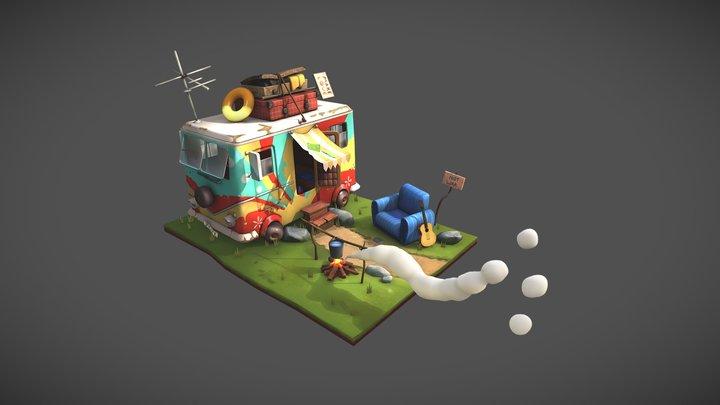 Hippie-mobile 3D Model