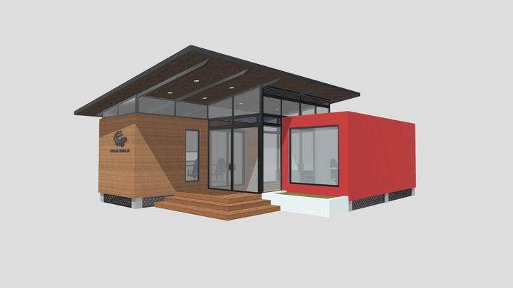 Office Type 1 3D Model