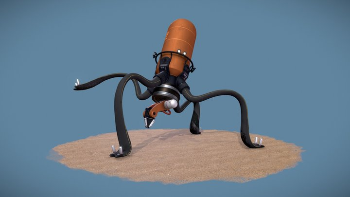 Squid Printer 3D Model