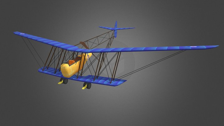 Game art wo1 plane 3D Model