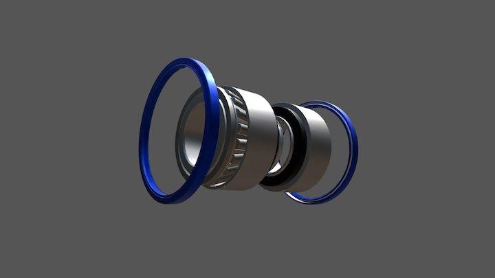 Ремкомплект ступицы SAF 3434301200 3D Model