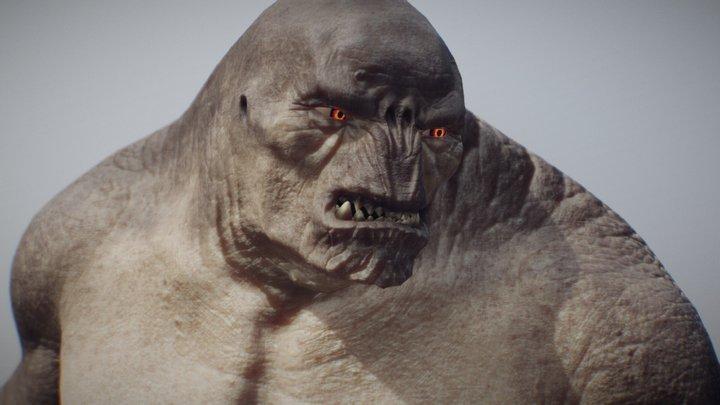 """Mordor Troll - """"Olog Hai"""" - Lord of the Rings 3D Model"""
