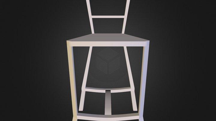 Silla alta 3D Model