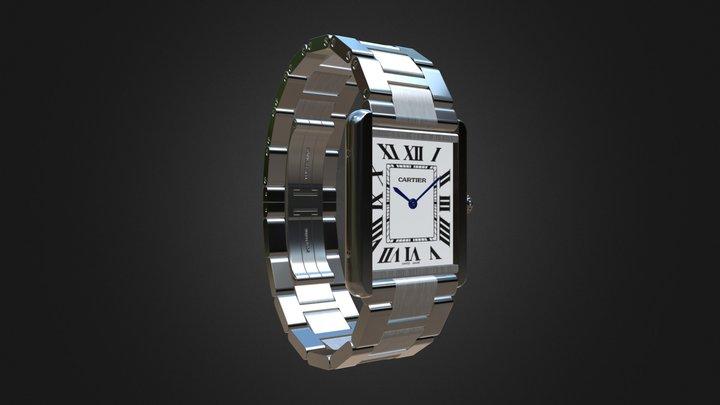 Cartier Tank Solo Watch 3D Model
