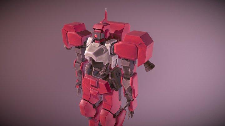 Gundam IBO Shiden Test Basic Textured 3D Model