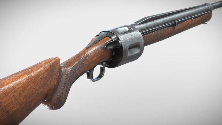 Becker Revolving Shotgun 3D Model