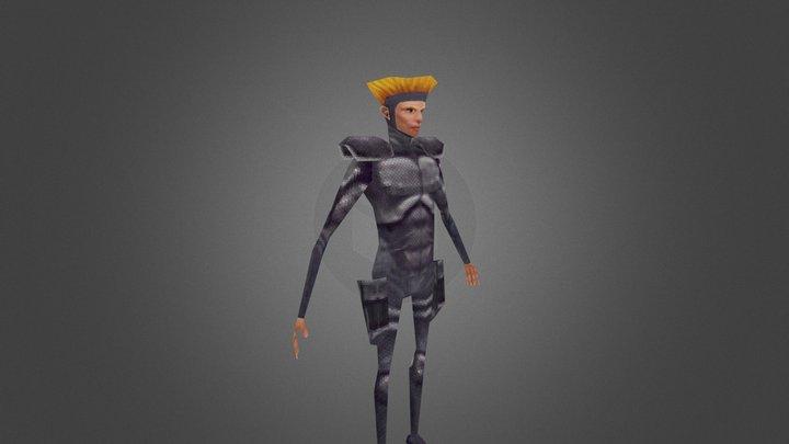 VGR xcom Male Textured 3D Model