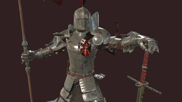 Banner Knight 3D Model