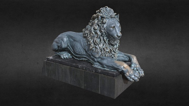 Lion_statue 3D Model