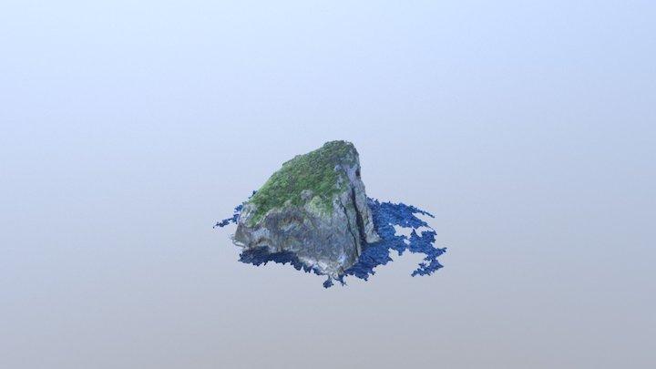 Motu Kokako Island 3D Model