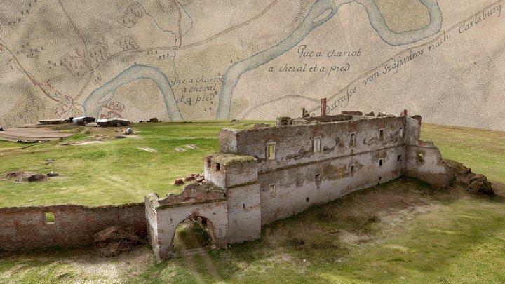 Castelul Martinuzzi, Vințu de Jos, Romania 3D Model