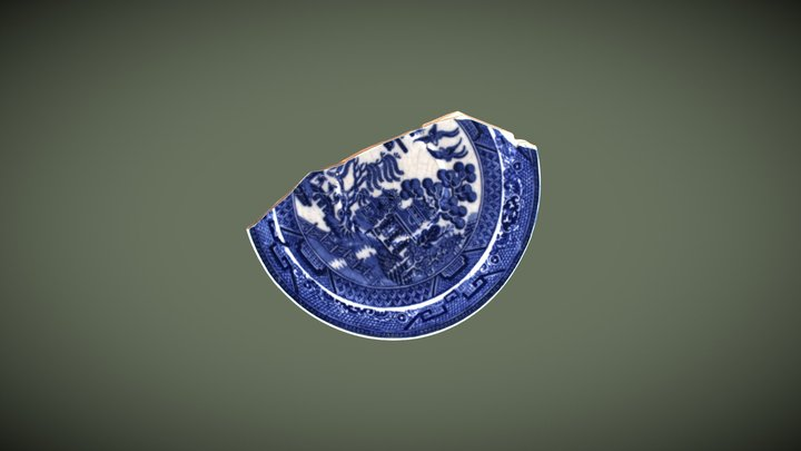 Blue Decorative Earthenware 3D Model