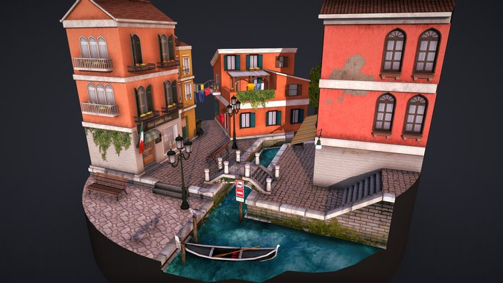 Cityscene - Venice 3D Model