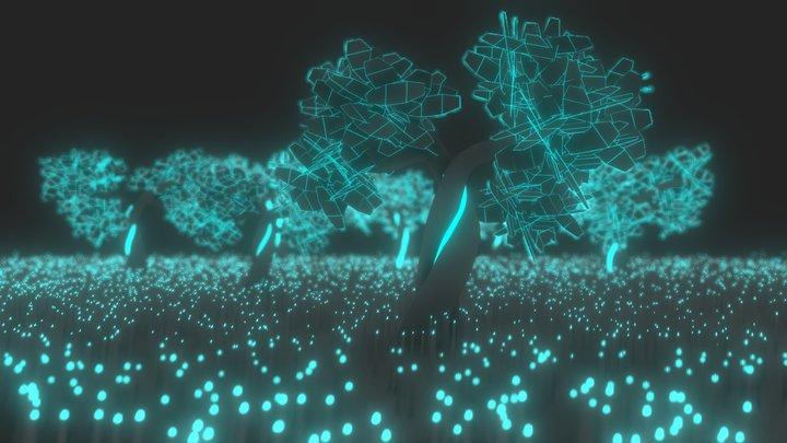 Digital forest 3D Model