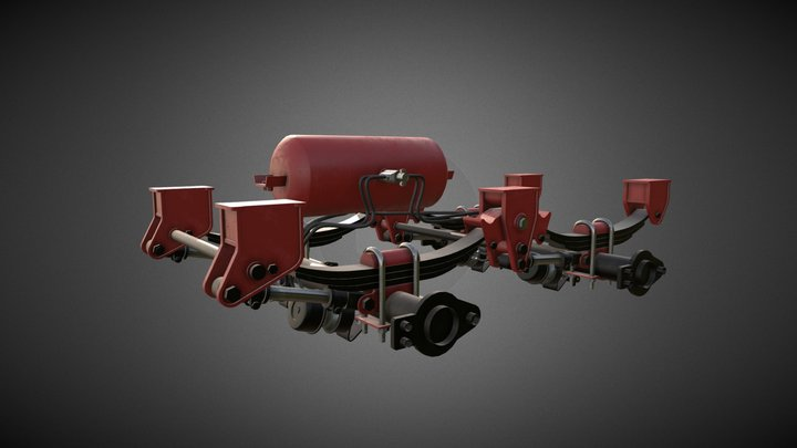 Trailer Spring Suspension 3D Model