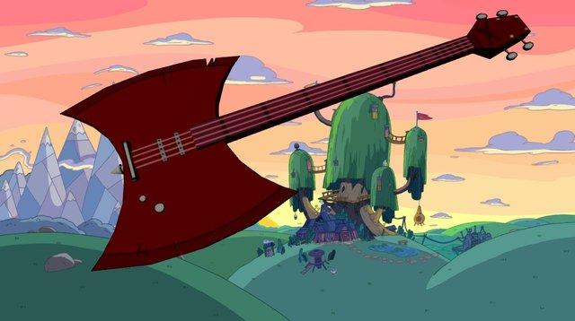 Adventure Time Bass Axe 3D Model