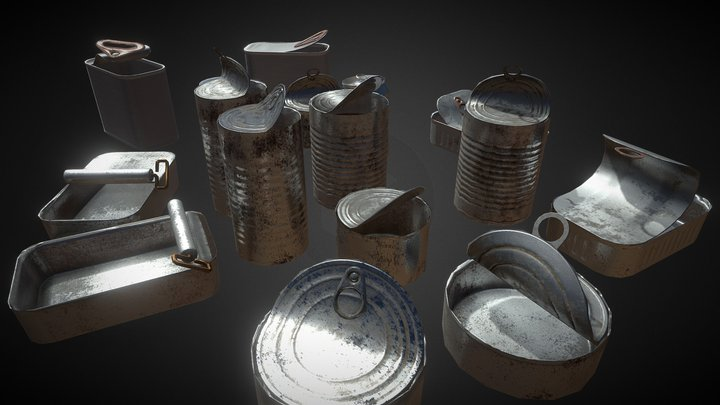 Opened cans showcase (Unity asset store asset) 3D Model