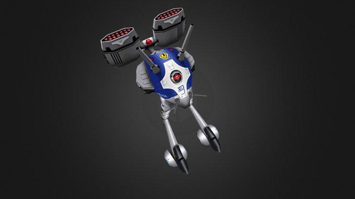 Reguld Heavy Missile Carrier Battle Pod 3D Model