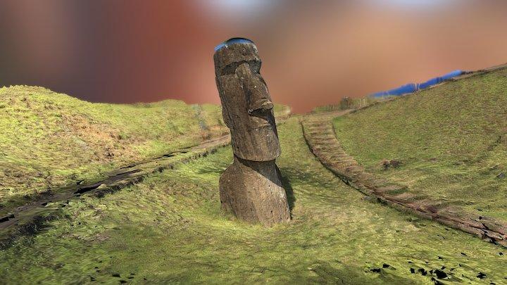 Tall Moai 3D Model