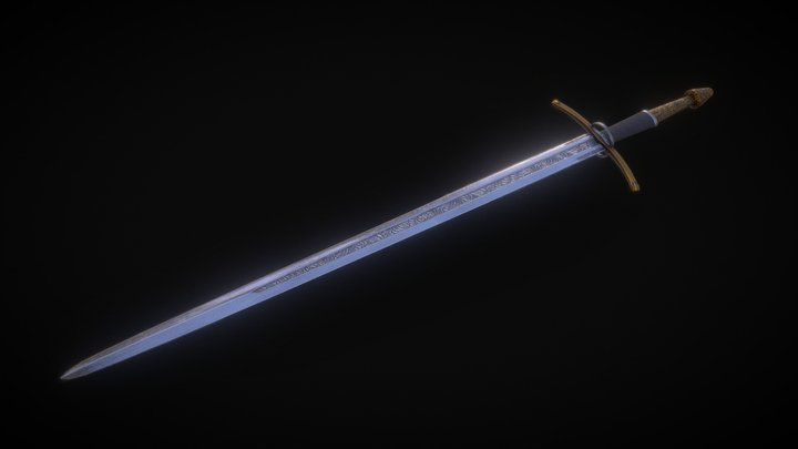 Paladin Longsword [Free Download] 3D Model