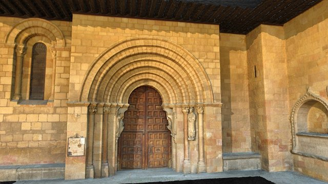 Portada románica Basílica San Vicente Ávila 3D Model