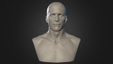 Semana 02 - Male Head 3D Model