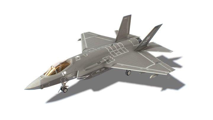 F-35 Lightning Jet Fighter Aircraft 3D Model