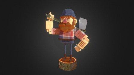 WOODEN GUY 3D Model