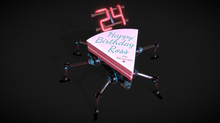 Happy Birthday Ross!! 3D Model