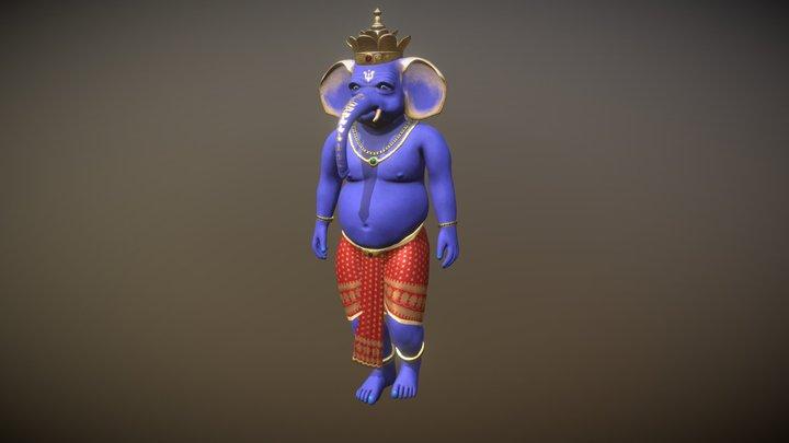 Indigo Ganesha - Avatar 3D Model