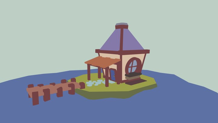 House Diorama 3D Model