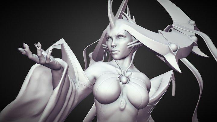 Goddess Vertia Sculpt Sketchfab 3D Model