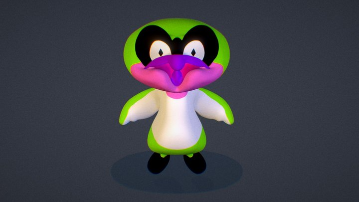 toxic pingu 3D Model