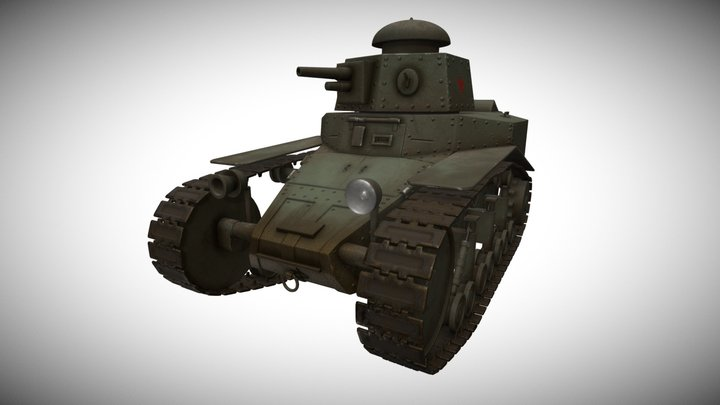 USSR Tank MS-1 3D Model