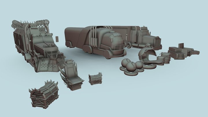 HW3.XYZschool 3D Model