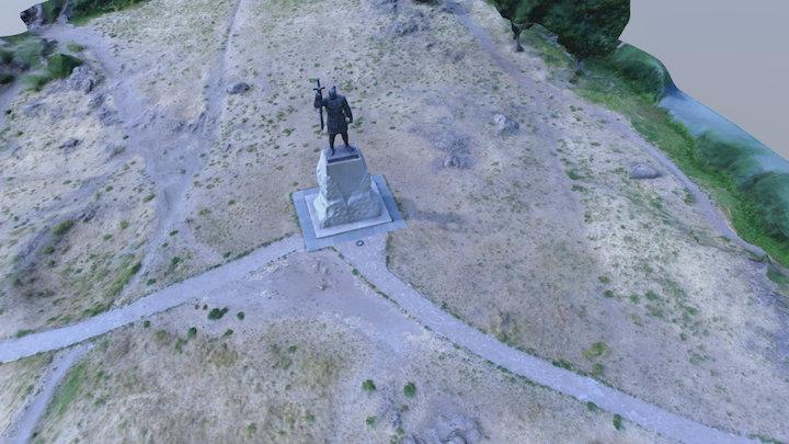Памятник Святославу в г.Запорожье 3D Model
