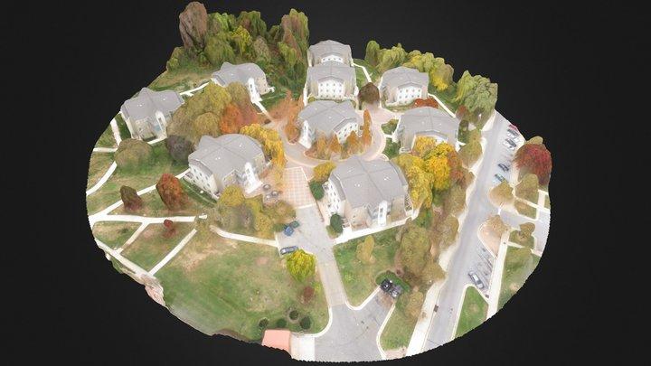 UMBC Hillside Apartments 3D Model