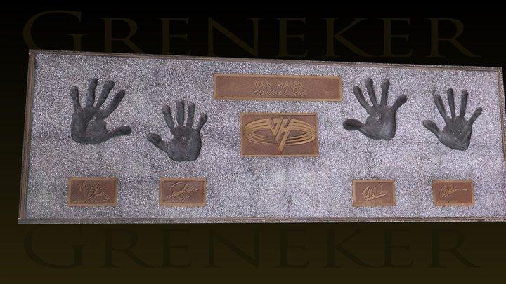 Van Halen Rock Walk of Fame at Guitar Center 3D Model