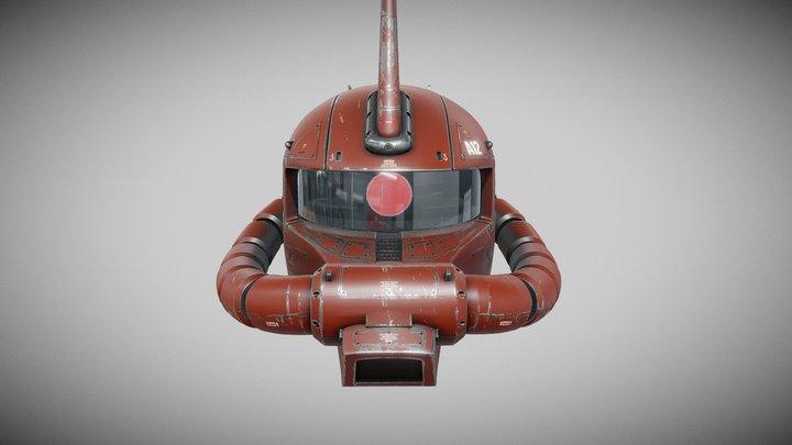 Zaku Char's Custom - Head 3D Model